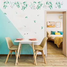 DICOR 2Pcs/Set Korean Fresh Leaves Wall Sticker Living Room Decoration Creative Diy for Home Decor QT1223KJ