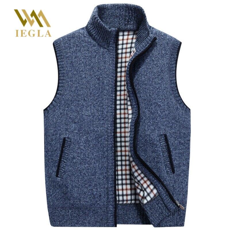 Chandails pour hommes gilet Cardigan homme chaud chandail affaires décontracté sans manches vêtement chandail tricoté épais manteau Europe taille