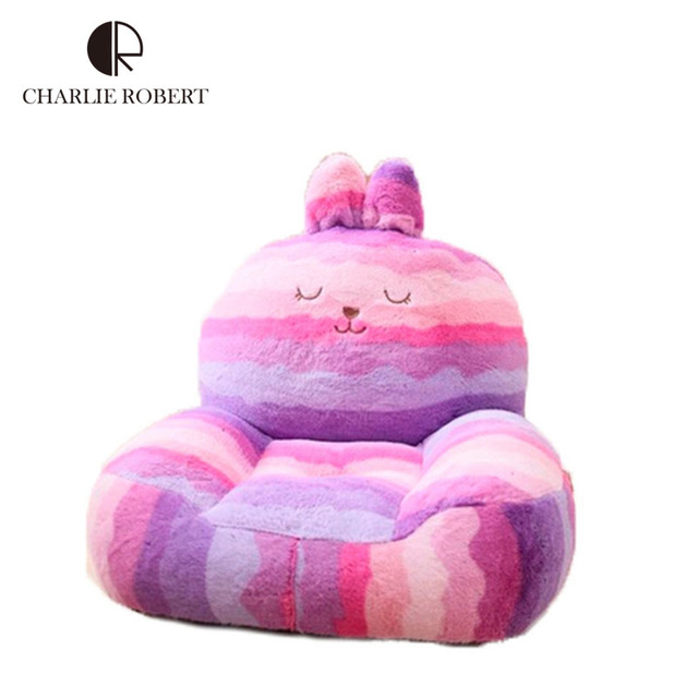 High Quality 2015 Baby Chair&Seat Cartoon Sofa Kids Bean Bag Kawaii Rabbit Bear Elephant Plush Toys Furniture HK439