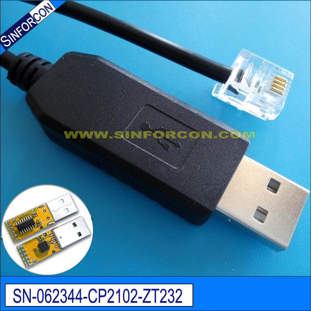 Usb Serial Rj45 Wiring Diagram: Silabs Cp2102 Usb Rs232 Serial Adapter Cable With Rj11