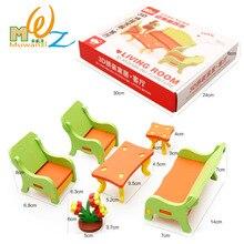 Деревянная мебель игрушка сборка деревянные блоки игрушки стул таблица модель дети собрали игрушку Детское воспитание детей детского возраста