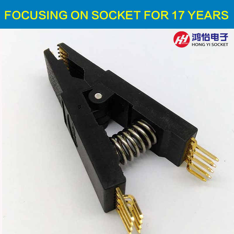 BIOS SOP16 SOIC16 Bent Original Test Clip Pin Pitch 1.27mm Universal Body EPROM Programming Clip Suitable for Dupont Line bios sop16 soic16 original straight test clip pin pitch 1 27mm universal body programming clip test clamp