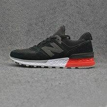 NEW BALANCE NB574 V2 Мужская черная обувь для бадминтона высокое качество уличные кроссовки Новое поступление