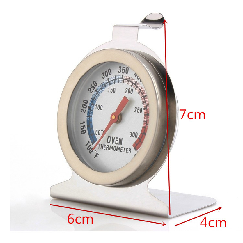 1Pcs Food Meat Temperature Stand Up Dial Oven Thermometer Stainless Steel Gauge Gage Large Diameter Dial Kitchen Baking Supplies in Temperature Gauges from Home Garden