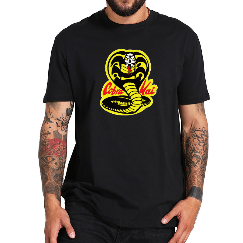 Cobra Kai T Shirts King Of Snake Anime Summer Tops Men Fashion Cotton Casual Shirts Standard US Size Streetwear