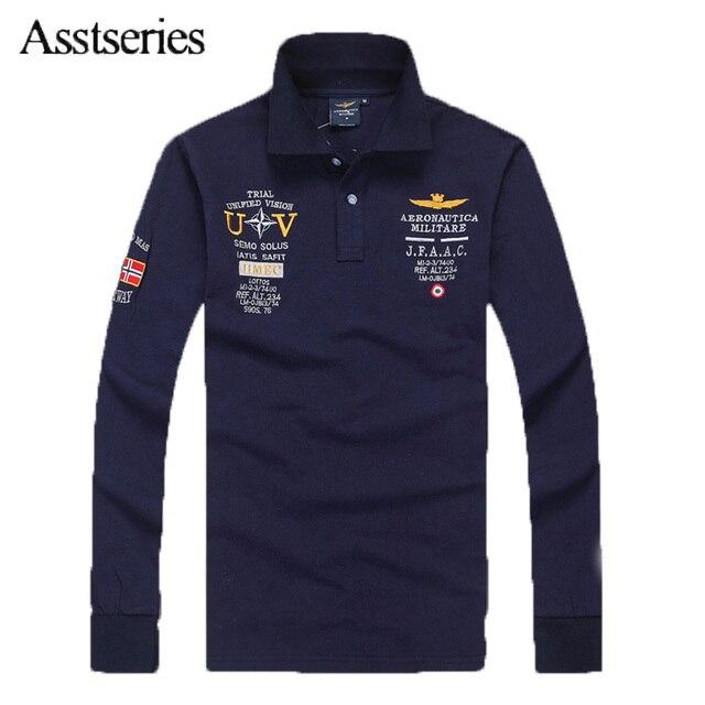 T Cotton Men 2018 Militare Men's Shirt Quality Aeronautica High Long 7wZqxZXCRt