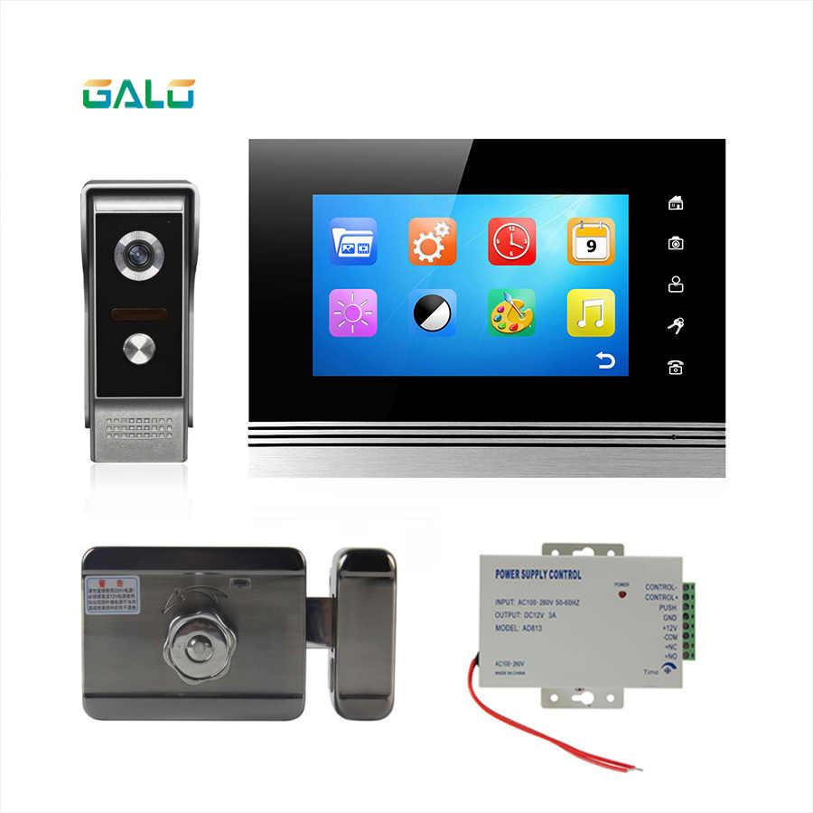 Smart Video Door Phone 7 Inch Monitor 2 4ghz Hd Camera