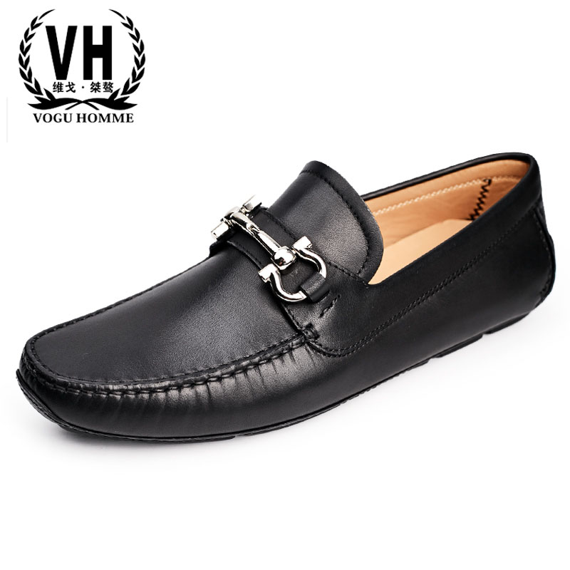 New British reto men's real leather shoes Doug shoes men lazy men casual shoes in the spring nd autumn of 2018 soft bottom drive пуловер violeta by mango violeta by mango vi005ewbvkk2