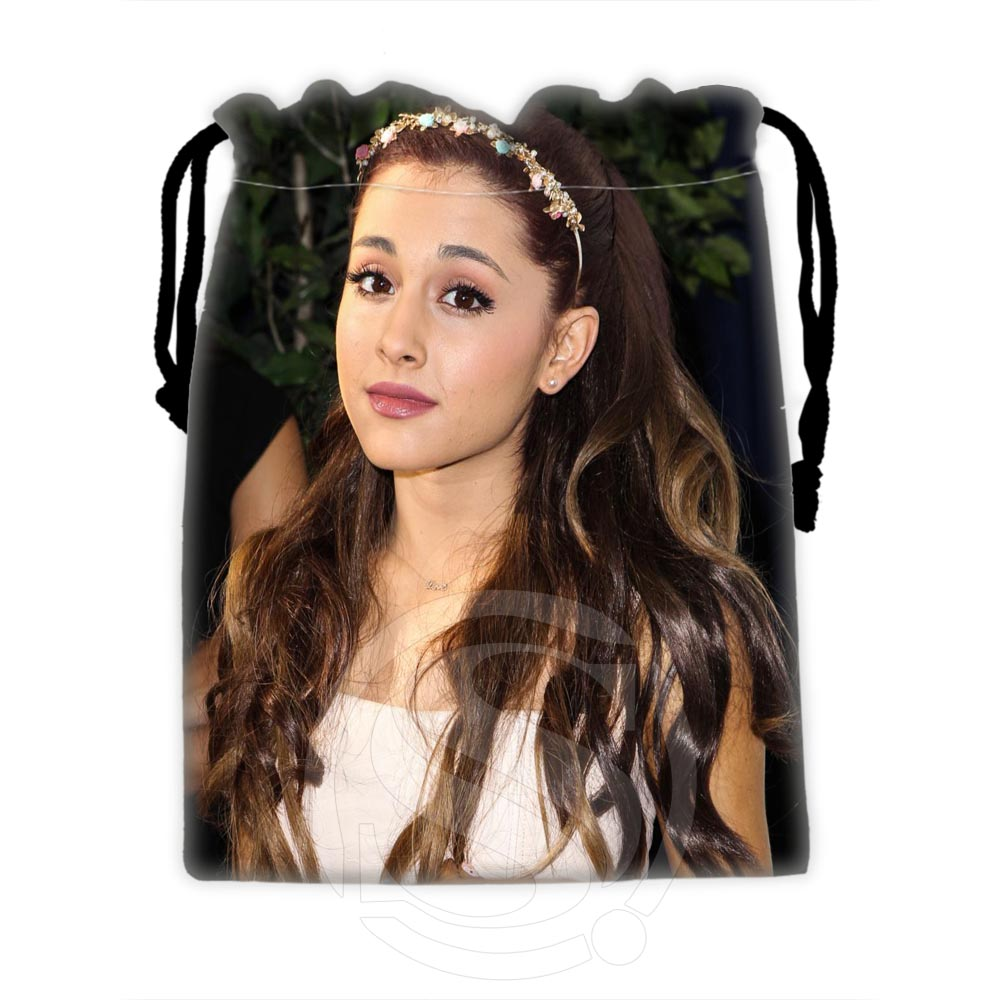 H-P605 Custom Ariana Grande #2 Drawstring Bags For Mobile Phone Tablet PC Packaging Gift Bags18X22cm SQ00806#H0605