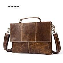 YUGUANG Men Bag Genuine Leather Bag Men Crossbody Bags Messenger Men's Travel Shoulder Bags Tote Laptop Briefcases Handbags 7909