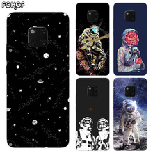TPU Silicone Phone Back Cases For Huawei Mate 20X 20 10 9 Pro 8 7 Shell Hull Heart Bumper Cover Space Moon Astronaut