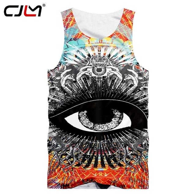 235762f51f76 CJLM Dropshipping Sleeveless Tee Shirts Man Hiphop Punk Gothic Singlets  Summer Men s Cool Print Skull Tank