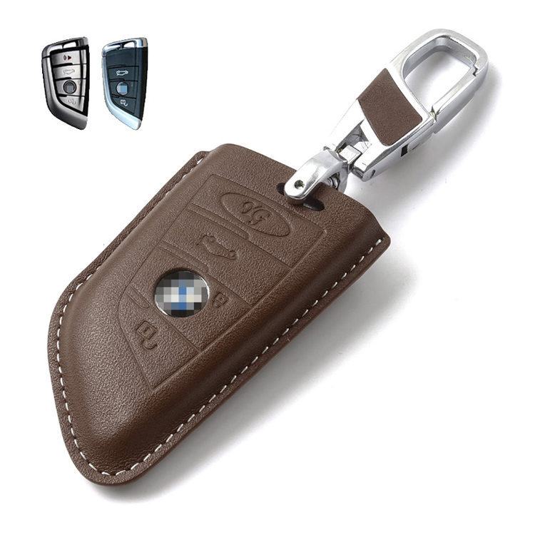 Key Wallet Car Key Fodral för BMW Series 1 2 3 5 7 Original Cow - Plånböcker - Foto 3
