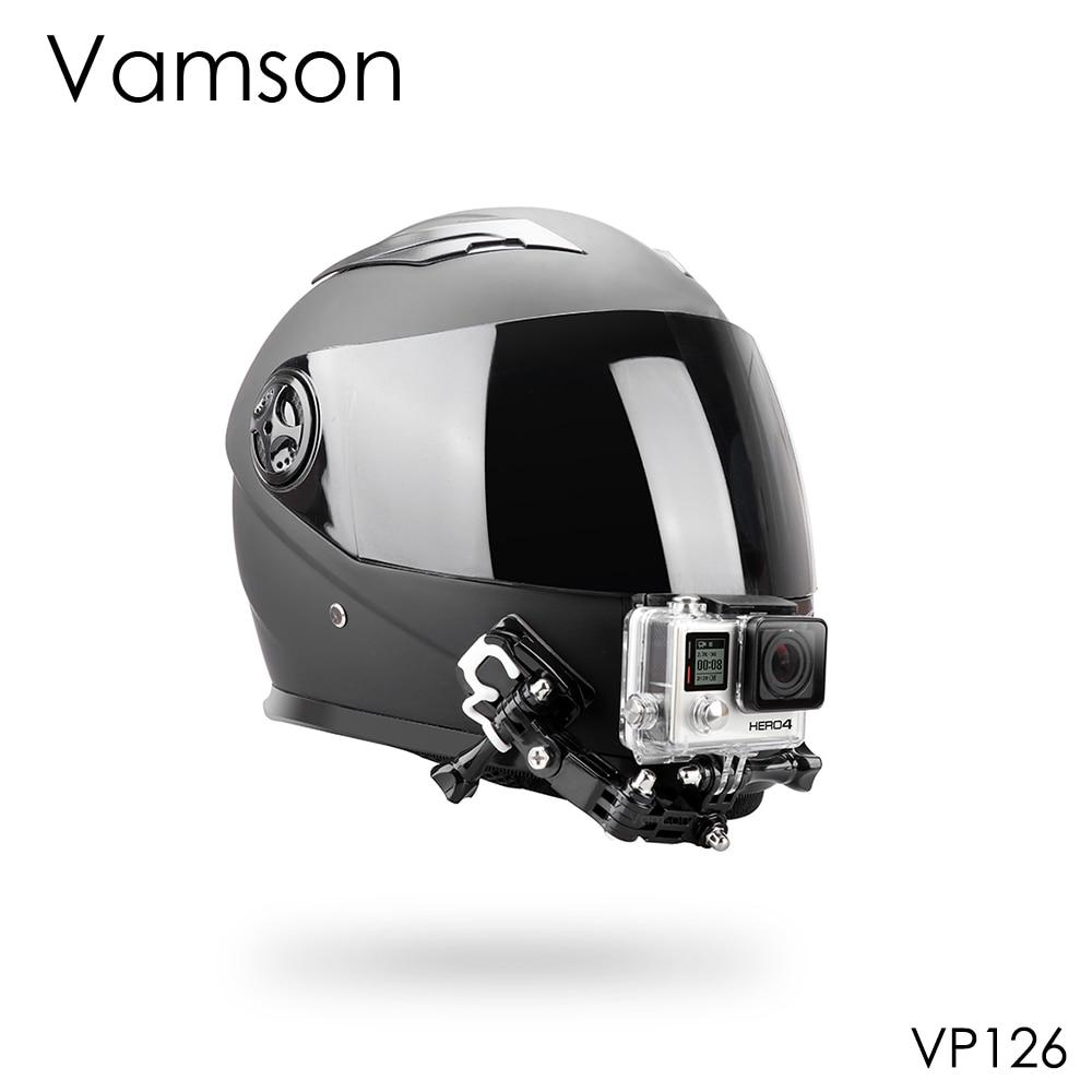 Vamson Accessories For Gopro Hero 8 7 6 5 Kit Helmet 4 Way Adjustable Pivot Arms Neck Strap Mount For Yi For SJCAM VP126C