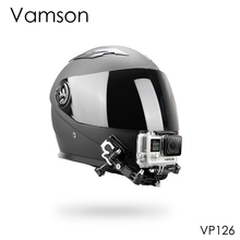 Vamson אביזרי עבור Gopro גיבור 8 7 6 5 ערכת קסדת 4 דרך Pivot מתכוונן זרועות צוואר רצועת הר עבור yi עבור SJCAM VP126C