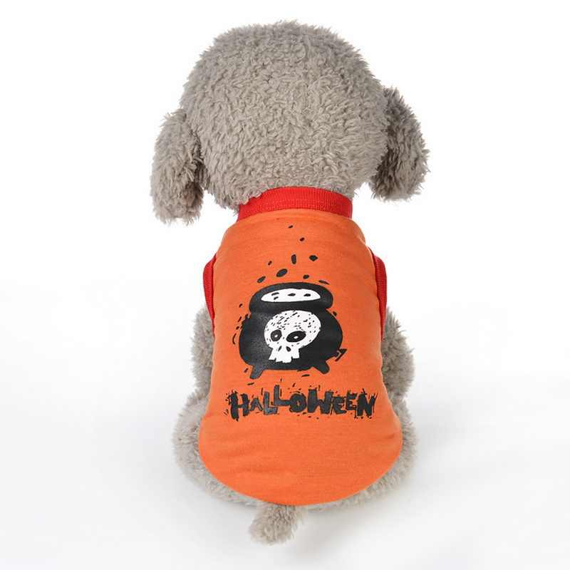 Dog  Halloween Vest  T-shirt Funny Cute Dog Halloween Apparel With Elastic Cosplay Apparel XS-XL Pet Clothes