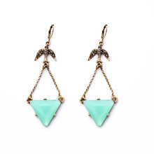jewelry wholesale Restore ancient ways the swallow triangle stud earrings set  for women