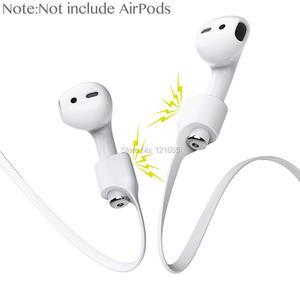 Image 2 - سماعات أذن لاسلكية من AirPods مزودة بشريط مغناطيسي لسماعات الأذن من Apple سماعة أذن مزودة بمغناطيس رياضي من السيليكون مزودة بسماعة أذن مزودة بسلك رقبة 100 قطعة/الوحدة
