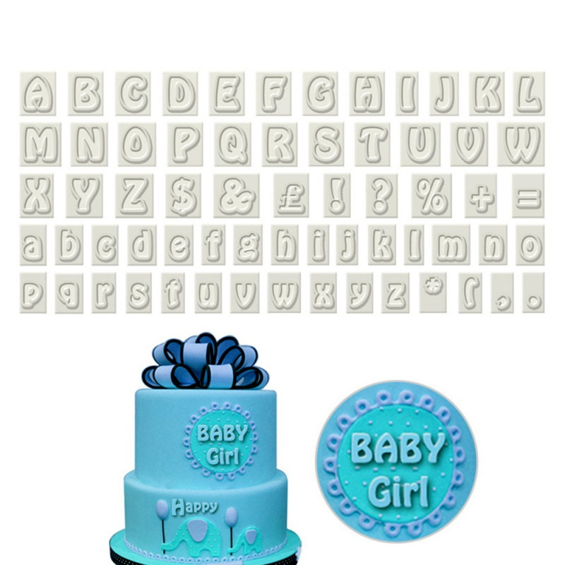 64PCS/Sets DIY Baking Tools English Alphabet Symbol Fondant Plastic Cutting Kitchen Cooking Cake