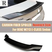 W213 R نمط الكربون الألياف الخلفية سقف الجذع المفسد الجناح ل بنز W213 الفئة E E200 E260 E300 E43 e63 سيدان 4 الباب 2016 يصل