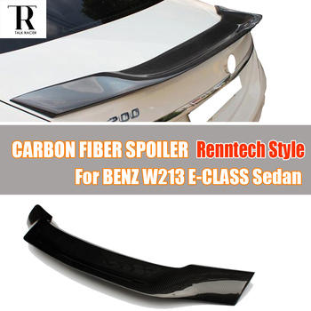 W213 R Style Carbon Fiber Rear Roof Trunk Spoiler Wing for Benz W213 E-Class E200 E260 E300 E43 E63 Sedan 4 Door 2016 UP