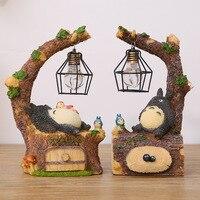 Cute Creative Fashion Totoro LED Night Light Table Lamps Resin Ornaments Craft Girls Romantic Kids Birthday