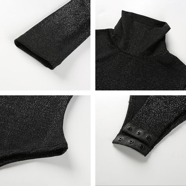 Autumn Winter Long Sleeve Bodycon Fitness Bodysuit
