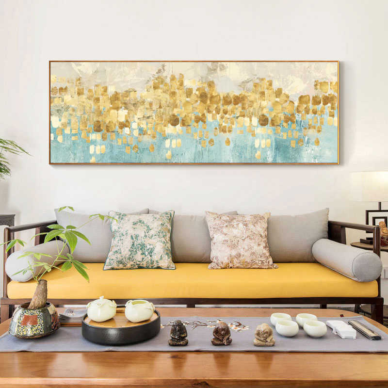 Modern Abstract Oil Painting Posters and Prints Wall Art Canvas Painting Gold Money Surf Pictures for Living Room Decor No Frame