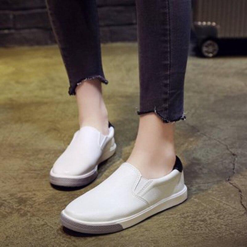 6ed68856de2 Estudiante verde 2019 Zapatos Casual Planos Mujer Nueva De Perezosos  Trabajo Primavera rojo Un Pedal Negro TqPTwAOx