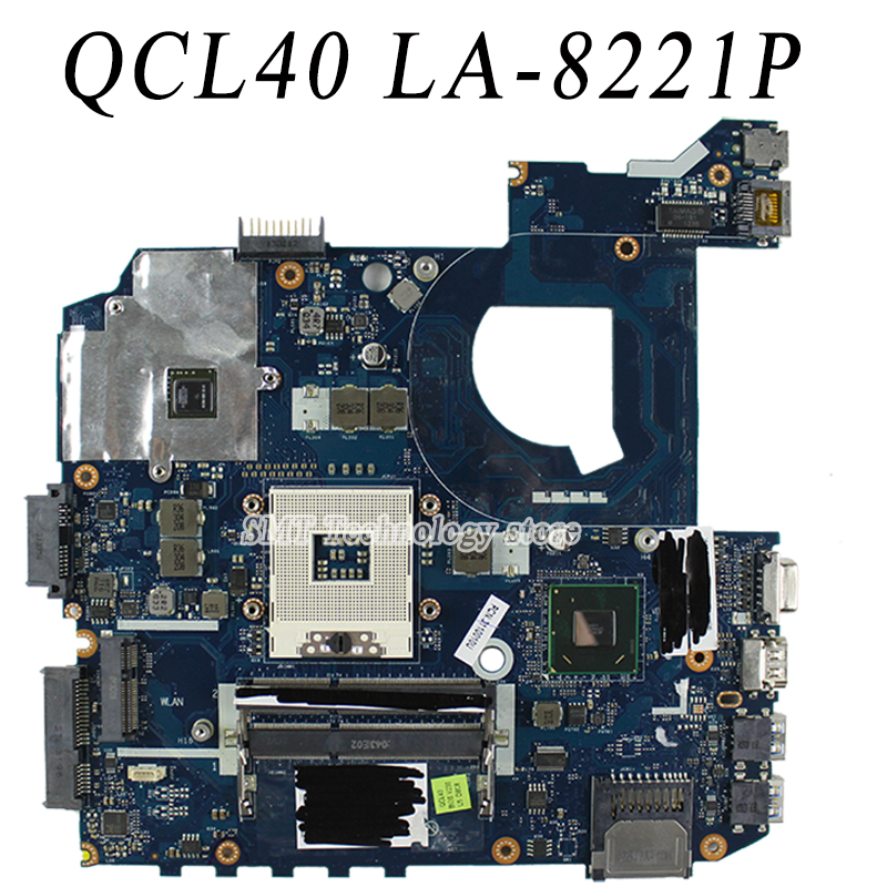 For Asus k45v K45VJ K45VM 2GB 8pcs of storage Laptop Motherboard Mainboard QCL40 LA-8221P Tested ok Free shipping ciker new preppy style 4pcs set women printing canvas backpacks high quality school bags mochila rucksack fashion travel bags