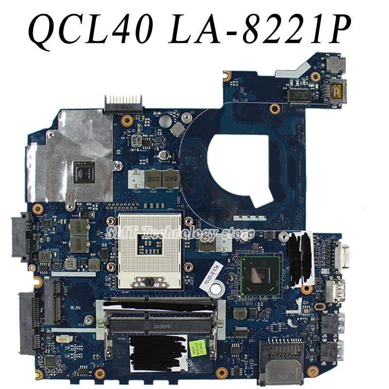 For Asus k45v K45VJ K45VM 2GB 8pcs of storage Laptop Motherboard Mainboard QCL40 LA-8221P Tested ok Free shipping  for asus k52jb a52j k52jr k52je k52j 4 pcs on storage laptop motherboard rev2 3 mainboard free shipping