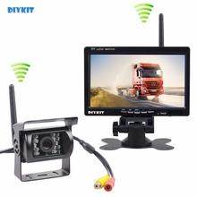 DIYKIT Transmissão Sem Fio HD 800×480 de 7 polegadas Monitor Do Carro IR CCD Rear View Camera Backup Para Carro Bus Truck Caravan Trailer RV