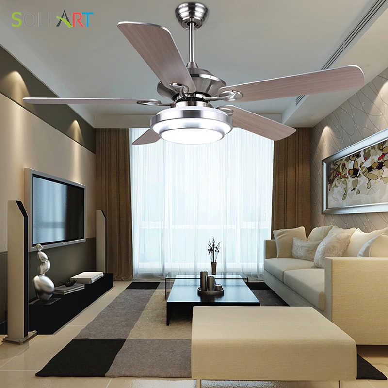 SOLFART потолочный вентилятор современный светодиодный деревянный потолочный вентилятор с подсветкой серебристый Бронзовый 42 дюйма 48 дюймов 52 дюйма декоративные веера SLF8995