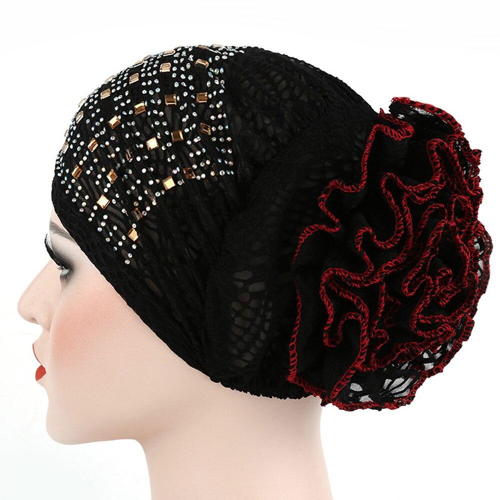 #5 DROPSHIP 2018 NEW Fashion Women Muslim Stretch Turban Hat Chemo Hair Loss Head Scarf Wrap Hijib Cap Freeship