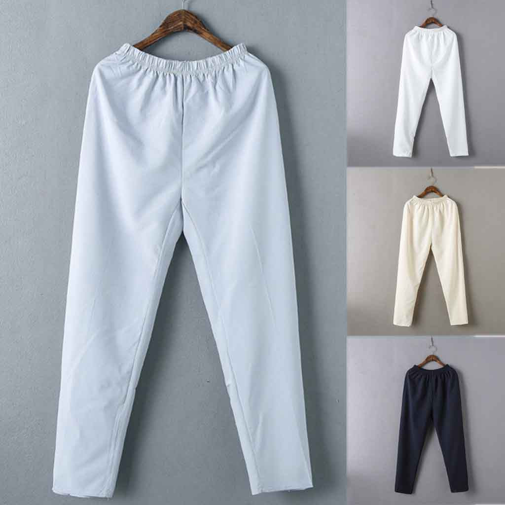2019 Solid Pantalon Homme Streetwear Joggers Men's Fashion Simple Solid Color Cotton Casual Elastic Waist Pants штаны джоггеры