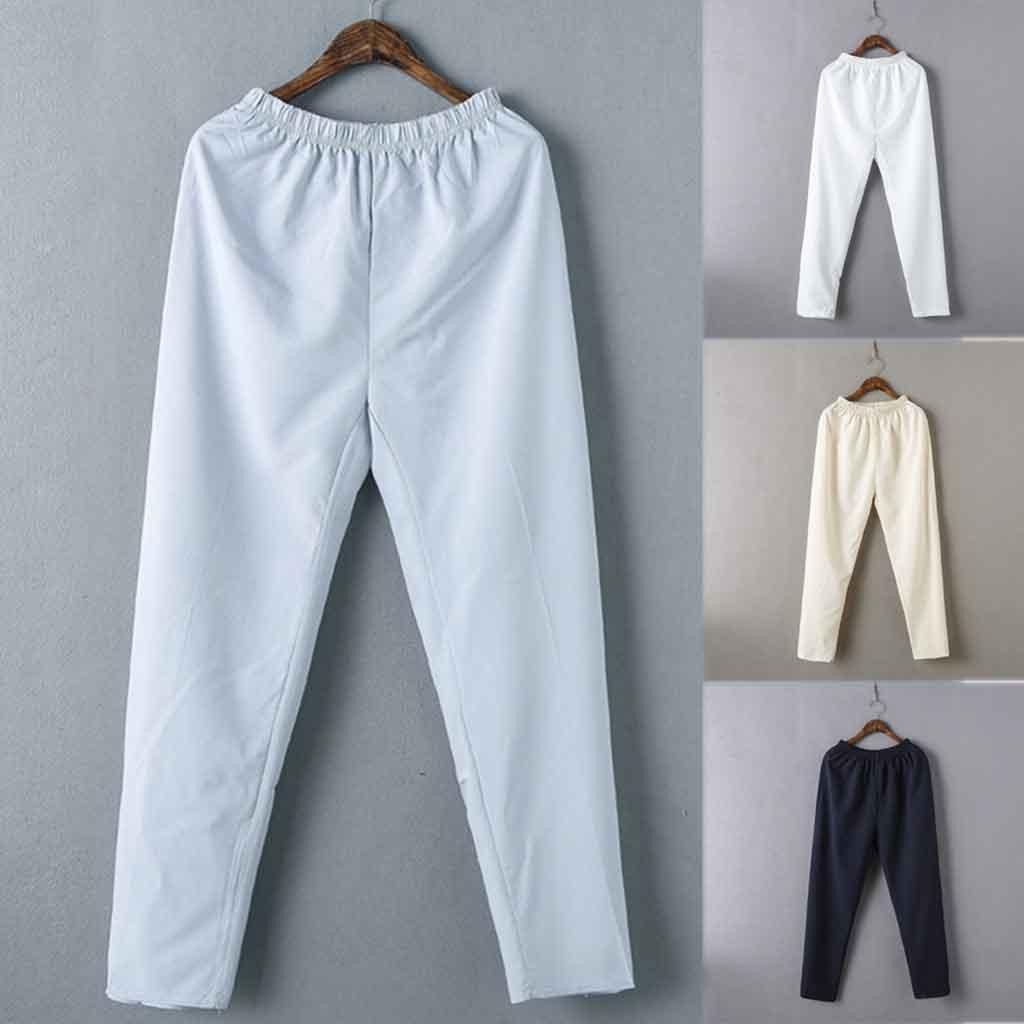 2019 Solid Pantalon Homme Streetwear Joggers Men's Fashion Simple Solid Color Cotton Casual Elastic Waist Pants штаны джоггеры