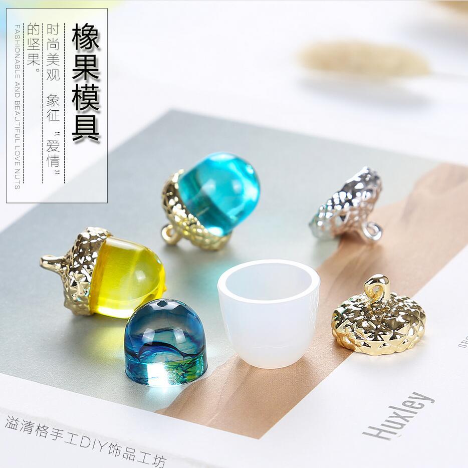 Прозрачная силиконовая форма для ожерелья и подвески lanugo 2019, декоративная форма из смолы для рукоделия, желуди, формы из эпоксидной смолы дл...