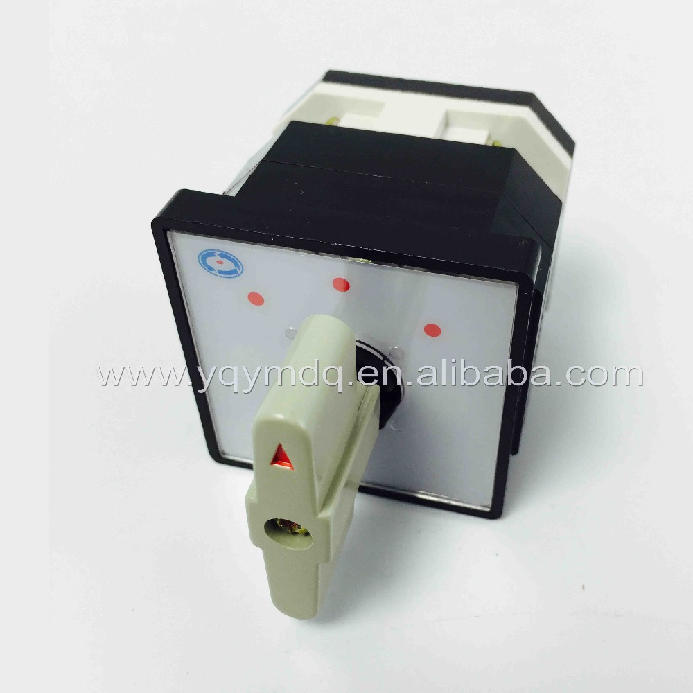 Rotary switch 3 position LW12-16D0081/1 universal switch 16A 1 pole 4 Terminal white rotary changeover cam switch silver contact ui 500v ith 16a 3 position changeover rotary cam switch w led indicator lamps