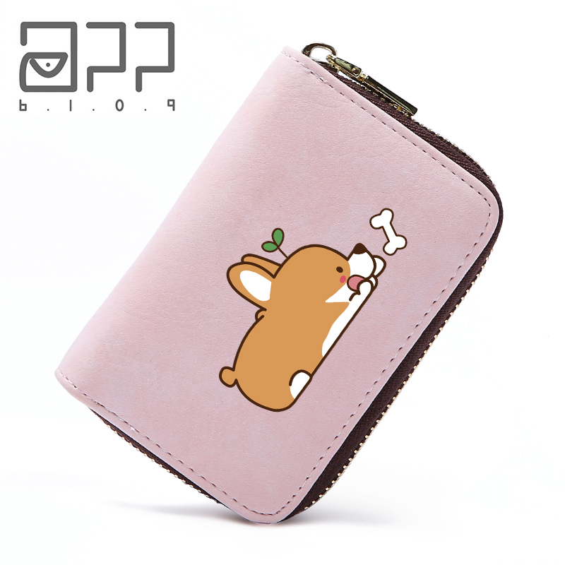 App Blog Cute Cartoon Welsh Corgi Dog Women Man Card Passport Cover Holder Fashion Credit Card Case Organizer Travel Wallet 2018 Hot Sale 50-70% OFF Coin Purses & Holders