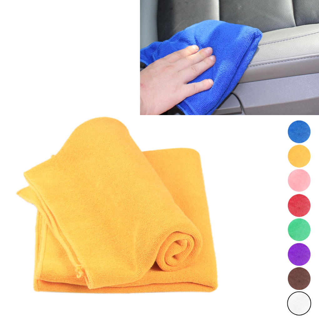 22*22CM Car Wash Microfiber Towel Auto Cleaning Drying Cloth Hemming Care Cloth Detailing Polishing Towels Duster