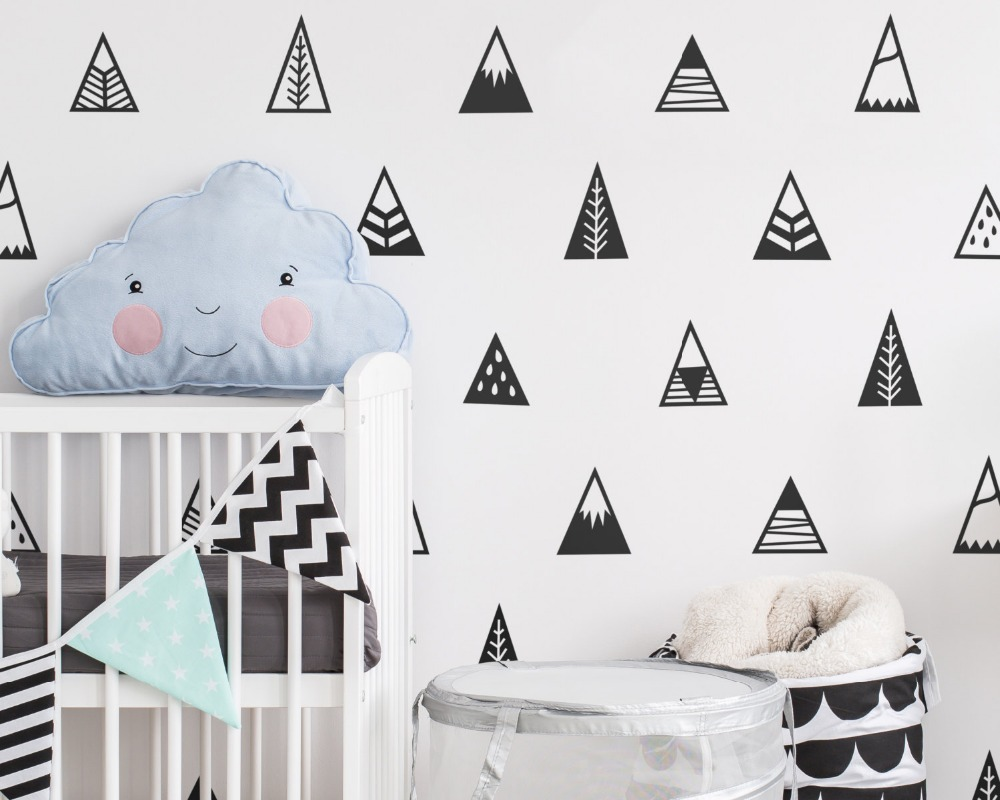 Buy nordic style mountains wall sticker for Decor vendors