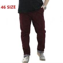 big size Fat XL leisure pants pants black oversize models men work business casual pants men plus size