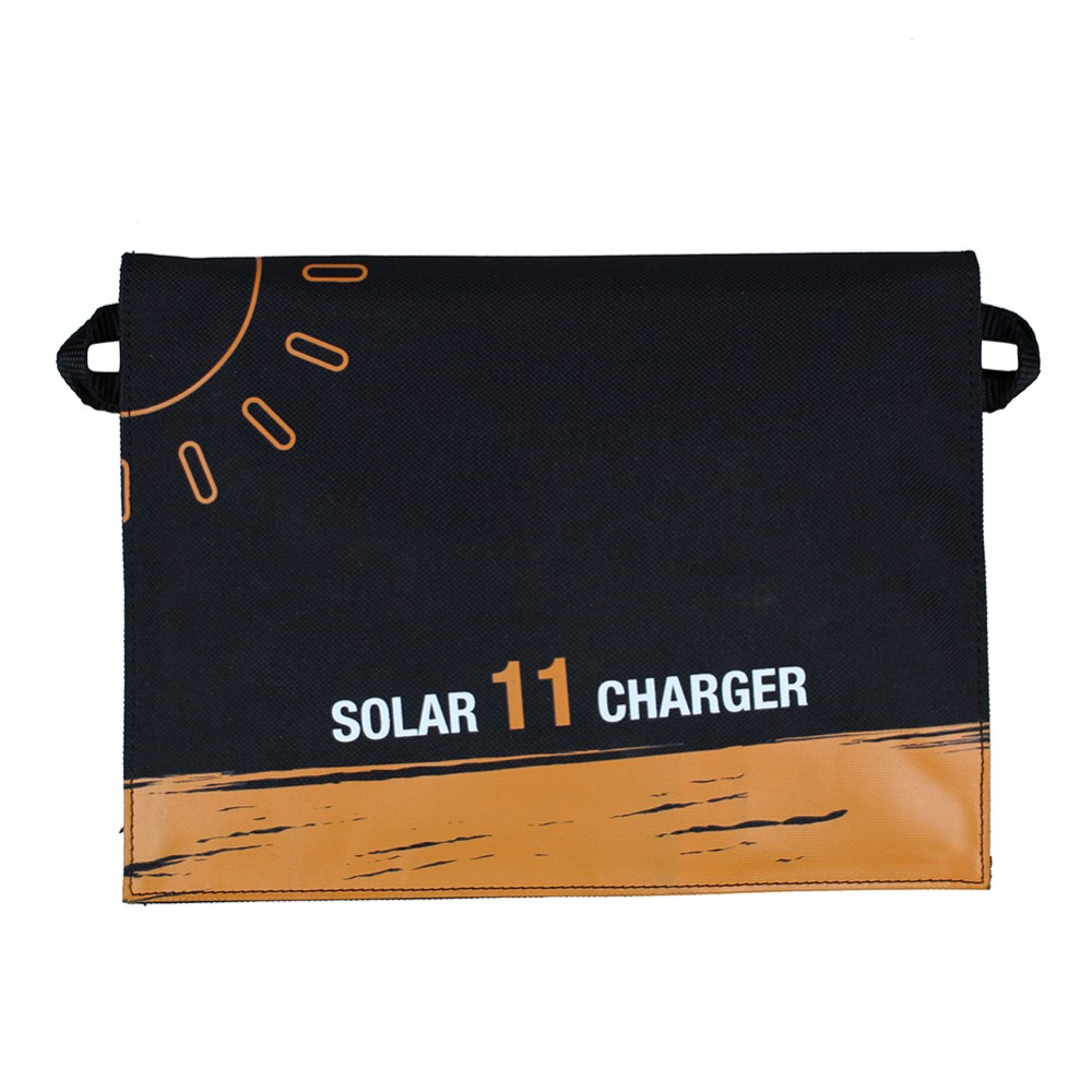 Chargeur solaire Portable pliable PowerBank chargeur de panneau solaire Portable extérieur pour téléphone Portable téléphone Portable MP3 11 W - 5