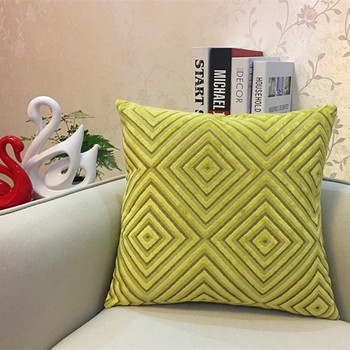 Lime Diamond corduroy Throw Pillow 5
