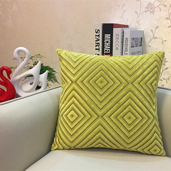 Lime Diamond corduroy Throw Pillow 5