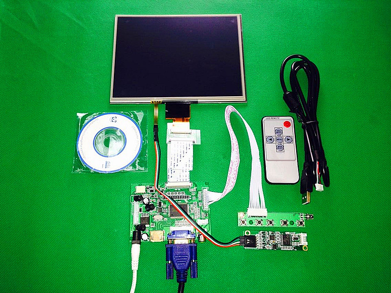 8''inch HDMI/VGA/AV Control Driver Board +Touchscreen for HE080IA-01D 1024*768 IPS high-definition LCD Display For Raspberry Pi hdmi vga av audio usb control board 8inch hj080ia 01e 1024 768 ips lcd panel screen model lcd for raspberry pi