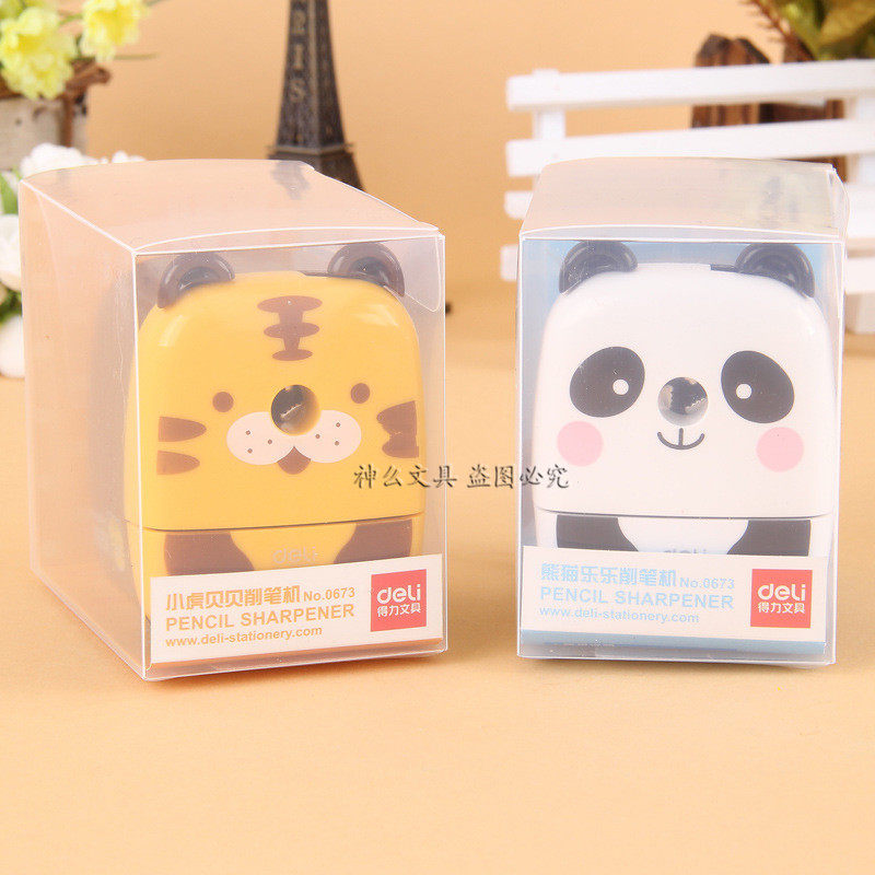 Deli pencil sharpeners The students hand pencil knife pencil sharpener Lovely animal model pencil machine  цены