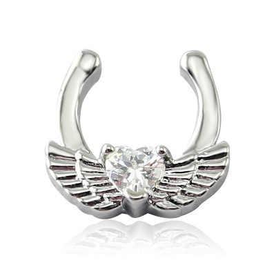 MODRSA 1 mezcla de pc de cristal de estilo de la Nariz, anillo de tabique de aro de clip para el cuerpo de las mujeres de la joyería Piercing de Nariz