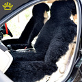 2016 Cubierta de Asiento de piel Natural de piel de oveja Australiana KOPOHA MEX largo invierno colchón de lana de nuevo cojín del asiento de coche de la felpa cubre D001