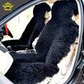 2016 KOPOHA MEX fur Car Seat Cover Natural Australian sheepskin Long wool cushion winter new plush car pad seat covers D001